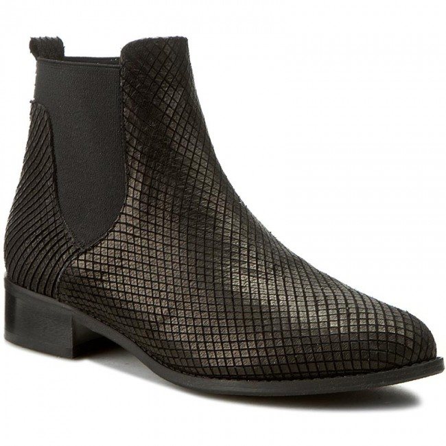 Licos Sagan Sides Czarne tłoczona 2747 Ankle Elastic Boots IED9eWHY2