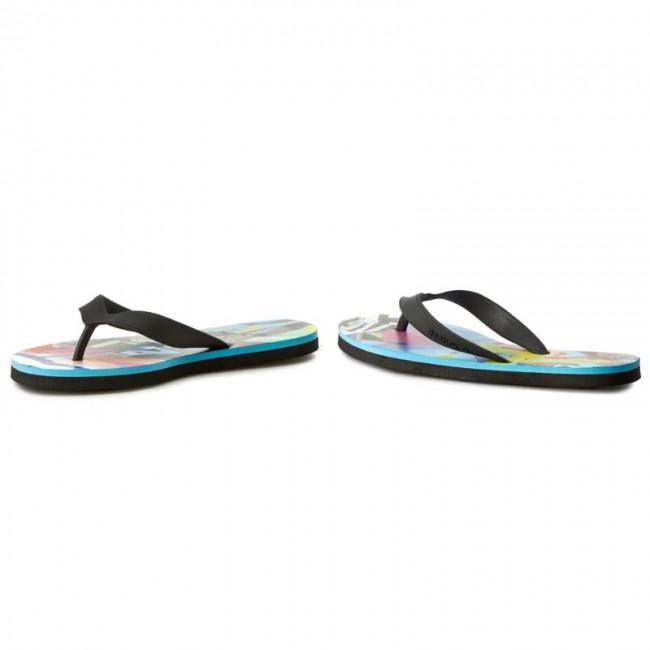 2fe7529ce8ac0 Slides Reebok - Cash Flip BD5213 Blk Wht Blue Pnk Green - Flip-flops ...