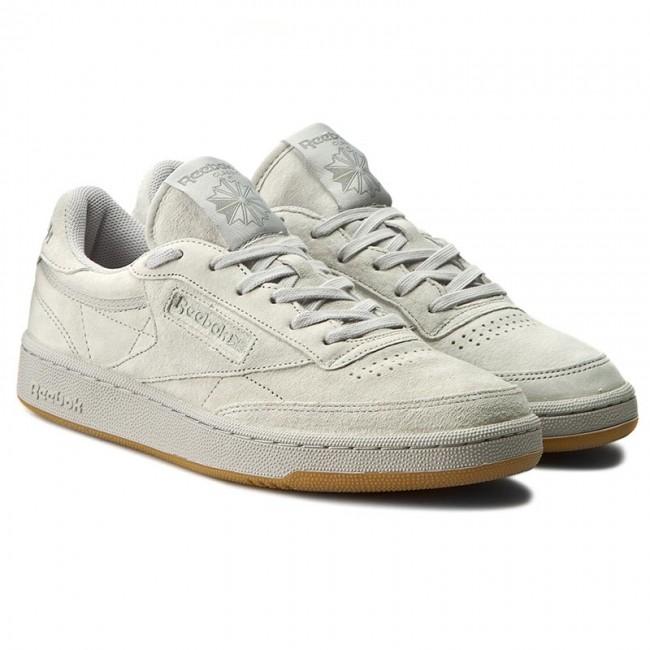Shoes Reebok Club C 85 Tg Bd1886 Steel Carbon Gum Sneakers Low Shoes Men S Shoes Efootwear Eu