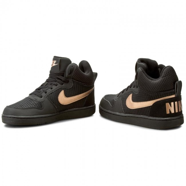 new arrival cc17d e48af Shoes NIKE - W Nike Court Borough Mid Prem 844907 002 Black Mtlc Red Bronze
