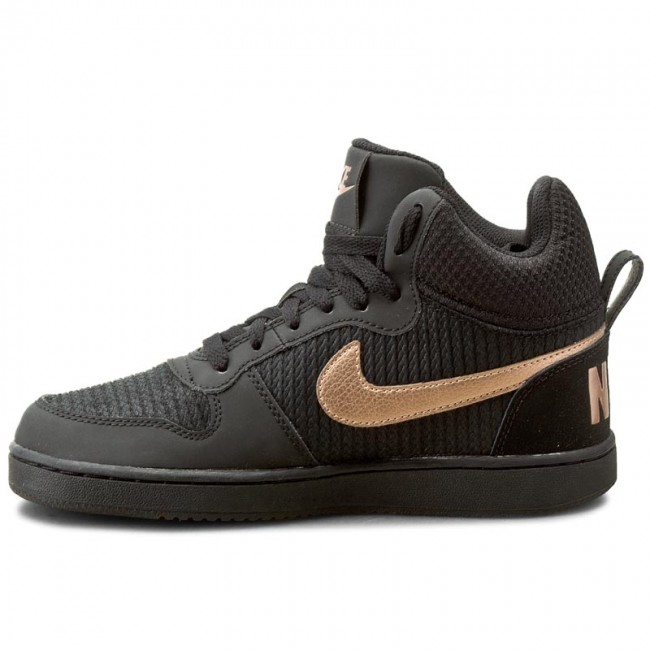 huge discount 9251d 5d620 Shoes NIKE - W Nike Court Borough Mid Prem 844907 002 Black Mtlc Red Bronze  Black - Sneakers - Low shoes - Women s shoes - www.efootwear.eu