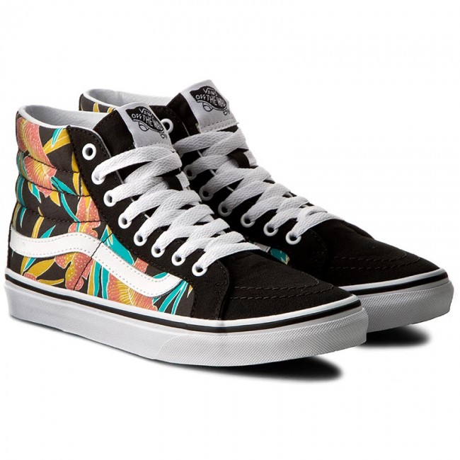 f0f1c55b8e Sneakers VANS - Sk8-Hi Slim VN0A32R2MQL (Tropical Leaves) Black - Sneakers  - Low shoes - Women s shoes - www.efootwear.eu