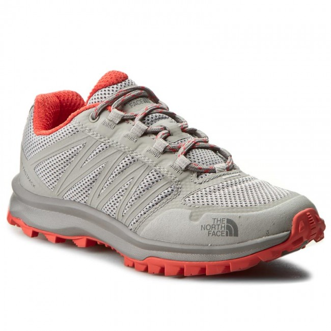 Trekker Boots THE NORTH FACE  Litewave Fastpack T92Y8ZTDQ Foil GreyCayenne Red  Trekker boots  Low shoes  Womens shoes       0000199284168