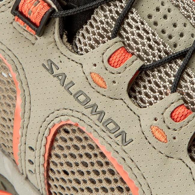 Trekker Boots SALOMON Techamphibian 3 W 393462 20 M0 Vintage KakiBungee CordLiving Coral