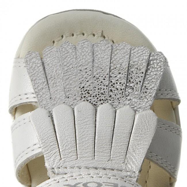 Sandals GEOX B S.Tapuz G. B B720YB 044JS C0007 BiałySrebrny