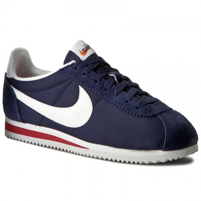 e0b1a4c59fcb ... Shoes NIKE - Classic Cortez Nylon Prem 876873 400 Midnight NavyWhite nike  cortez navy red ...