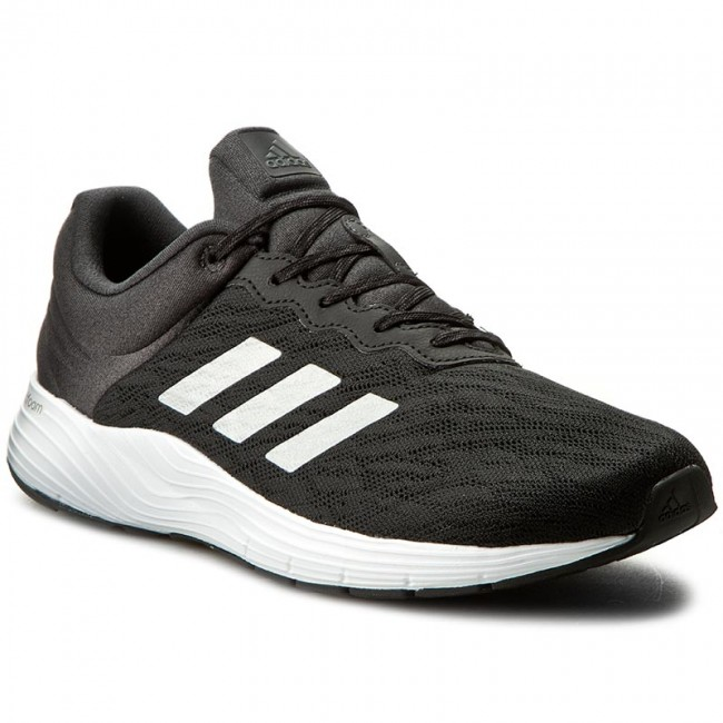 scarpe adidas fluidcloud m bb1711 cblack / silvm indoor correndo