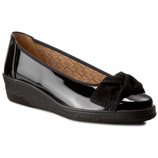 403 67 Shoes Schwarz Low Heeled Wedge 66 Gabor Fq6xn68E