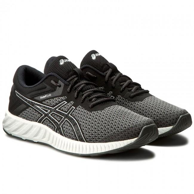 Shoes ASICS FuzeX Lyte 2 T719N BlackSilverWhite 9093
