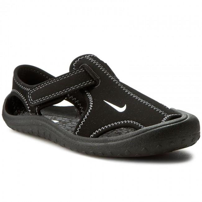 Sandals NIKE - Sunray Protect (PS) 344926 011 Black/White/Dark Grey