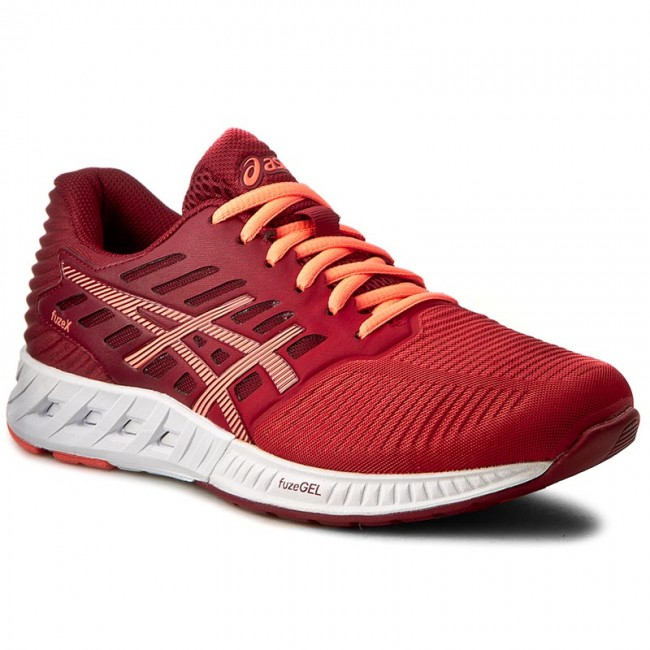 Shoes ASICS  FuzeX T689N Ot RedFlash CoralTrue Red 2306  Indoor  Running shoes  Sports shoes  Womens shoes       0000199356322