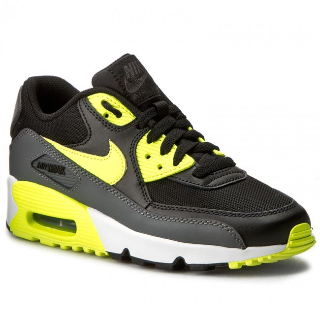 Shoes NIKE - Air Max 90 Mesh (GS) 833418 006 Black Volt Dk Grey ... c968a48e7d0