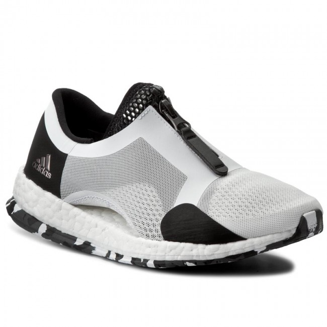 scarpe adidas pureboost x tr zip bb1578 ftwwht / cblack indoor