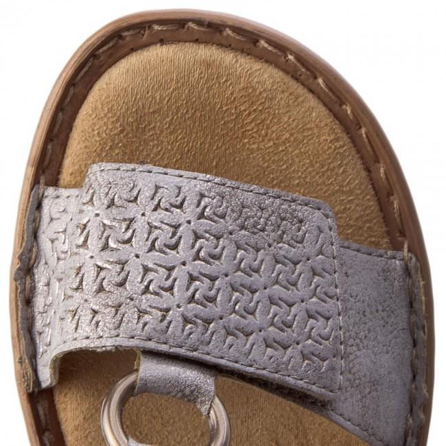 60887 40 Metallic Grey Ladies' Sandals