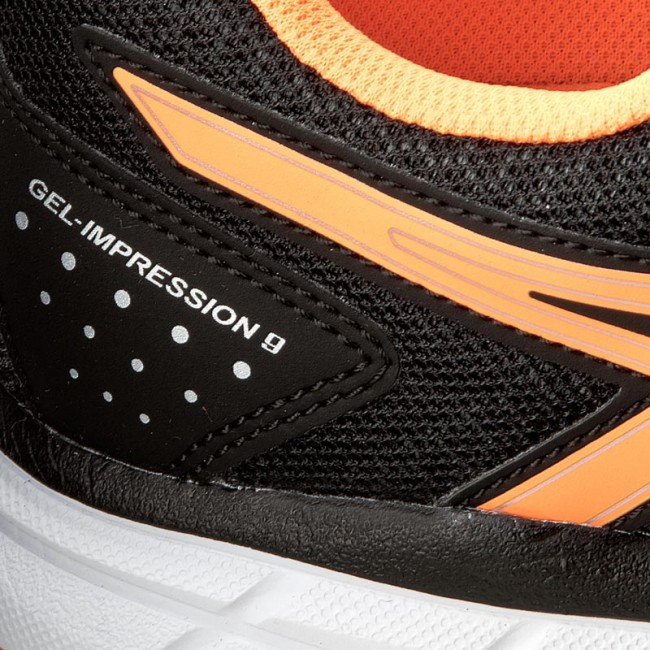 5121ca0cac Shoes ASICS - Gel-Impression 9 T6F6N Black Shocking Orange Silver 9030
