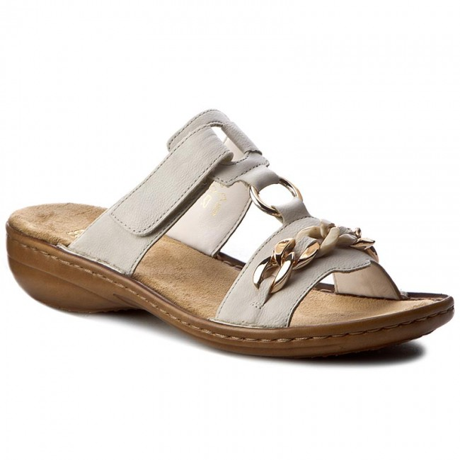 Slides RIEKER - 60890-80 Weiss - Casual mules - Mules - Mules and ... 1810632fcc