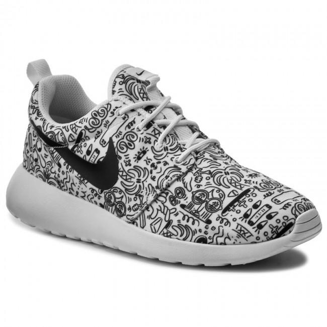 a982c50e451a Shoes NIKE - Wmns Nike Roshe One Print Prem 749986 100 White Black ...