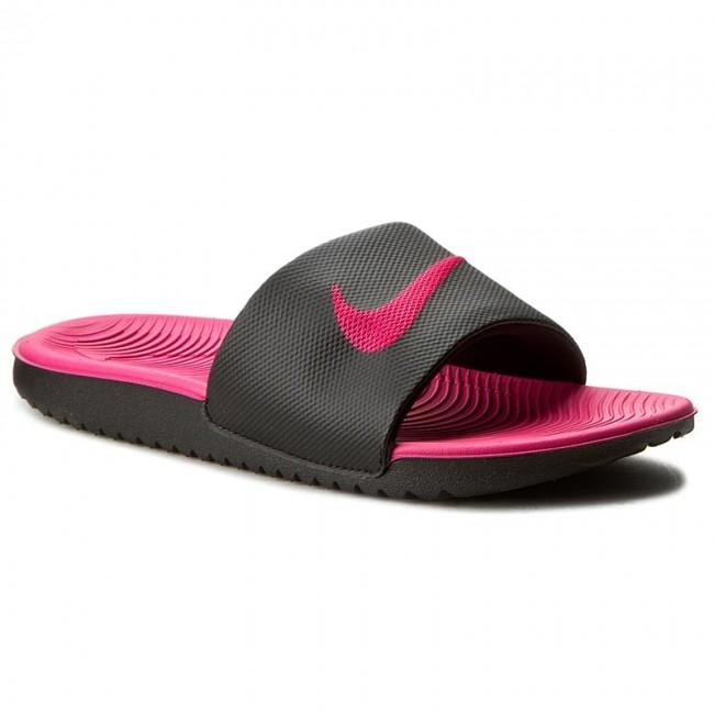 6a65069f8788 Slides NIKE - Kawa Slide (Gs Ps) 819353 001 Black Vivid Pink ...
