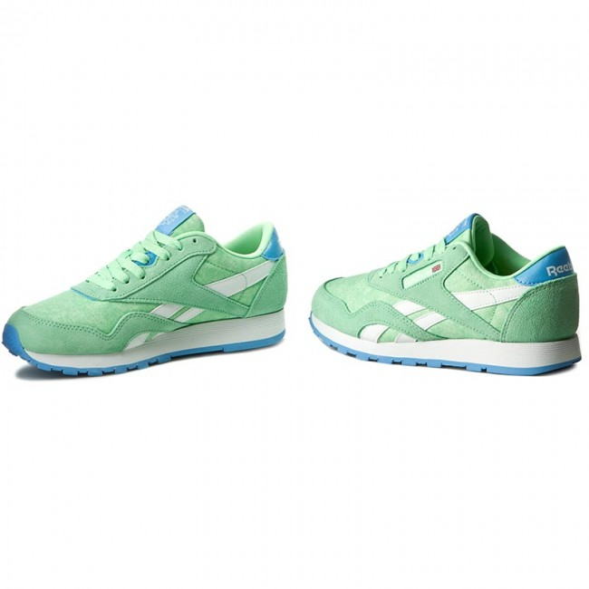 9d0f0f4e2ab1 Shoes Reebok - Cl Nylon Washed BD3858 Green Blue White - Sneakers ...