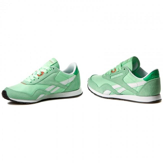 7772a4e5 Shoes Reebok - Cl Nylon Slim Hv BD1781 Mint/Bottle Green/Wht/Pnk ...