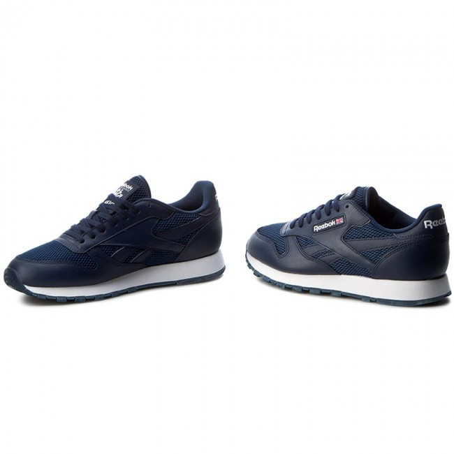 newest 1ccaf 9771c Shoes Reebok - Cl Leather Nm BD1651 Collegiate Navy White