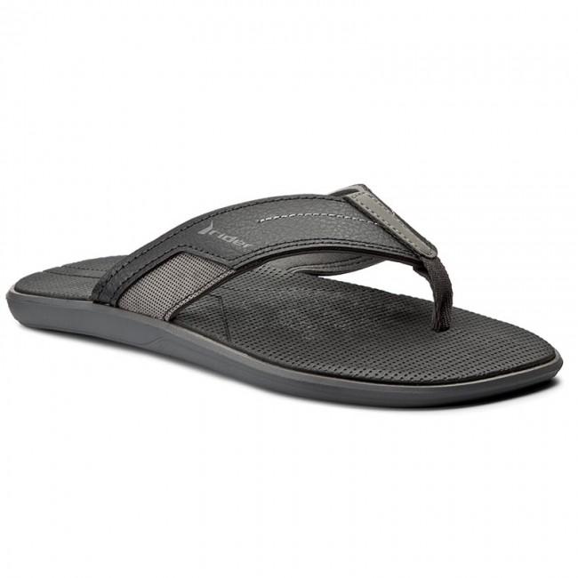 Mens Sandals Rider Murano Thong Mens Grey Black Sandals Sandals Clearance