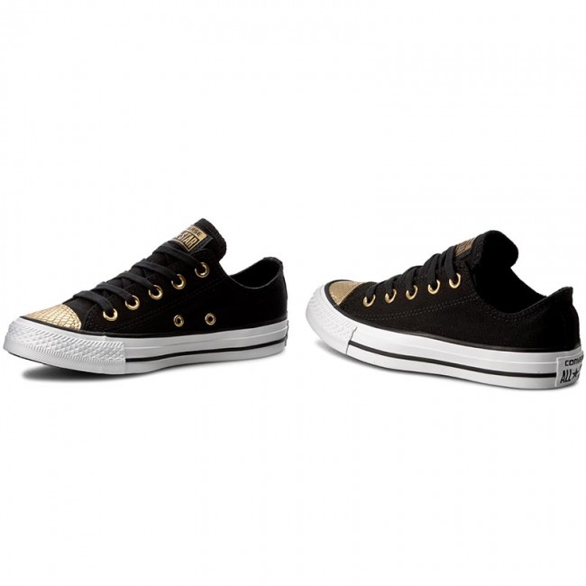 006f22e038d8af Sneakers CONVERSE - Ctas Ox 555815C Black Gold White - Sneakers ...
