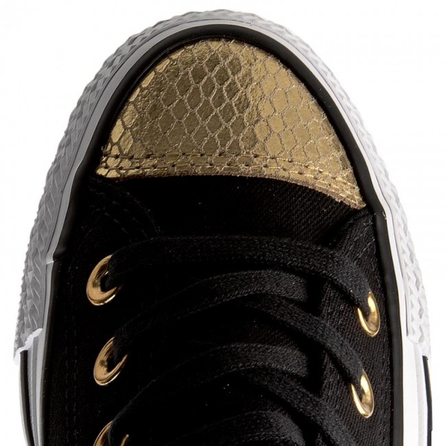 52e02e076cacff Sneakers CONVERSE - Ctas Ox 555815C Black Gold White - Sneakers - Low shoes  - Women s shoes - www.efootwear.eu