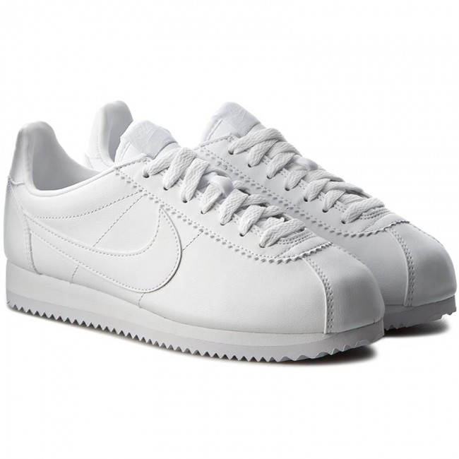 on sale 69e3f 154ce Shoes NIKE - Classic Cortez Leather 807471 102 White White - Sneakers - Low  shoes - Women s shoes - www.efootwear.eu