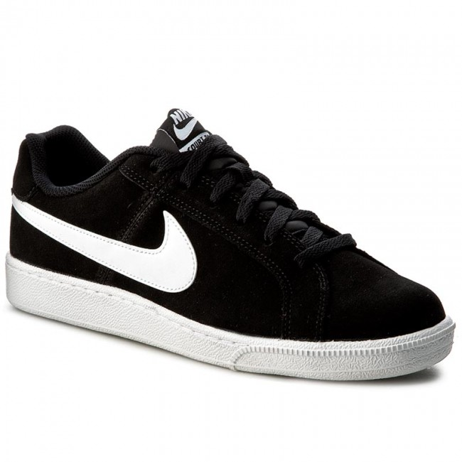 COURT ROYALE SUEDE - Sneaker low - black/white