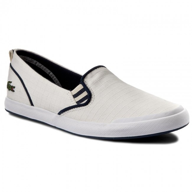 165021ad4b0a1 Plimsolls LACOSTE - Lancelle Slip On 117 1 Caw 7-33CAW1035098 Off ...