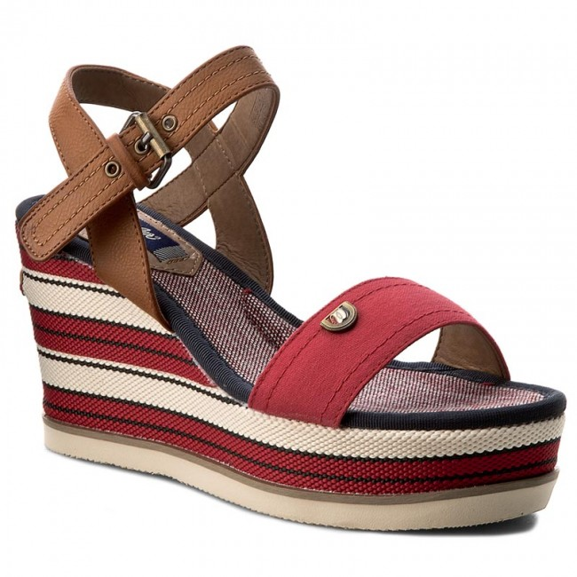Sandals WRANGLER  Jeena Sunshine Strap WF0821747  Red 87  Casual sandals  Sandals  Mules and sandals  Womens shoes       0000199477225
