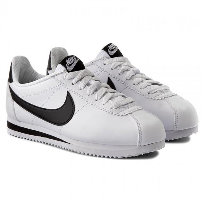 c8e64de7993e96 Shoes NIKE - Classic Cortez Leather 807471 101 White Black White - Sneakers  - Low shoes - Women s shoes - www.efootwear.eu