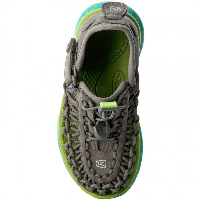 Details about  /Keen Uneek Slip-On Sandals Gargoyle//Viridian Size 12 Little Boys