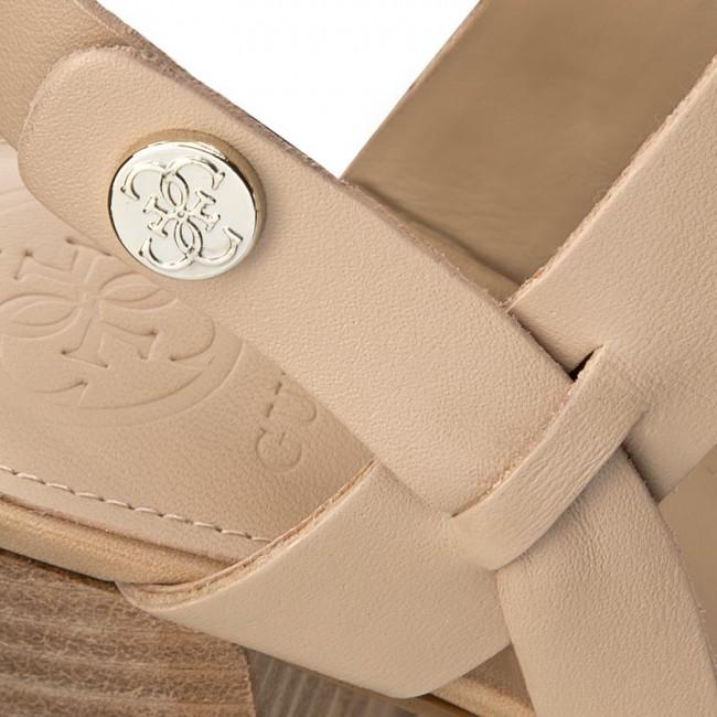 Sandals GUESS - Najya FLNAJ2 LEA03 BEIGE - Casual sandals - Sandals ... 3f52cbfc59