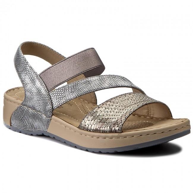 1fed289517 Sandals RIEKER - V5773-90 Metallic - Casual sandals - Sandals ...