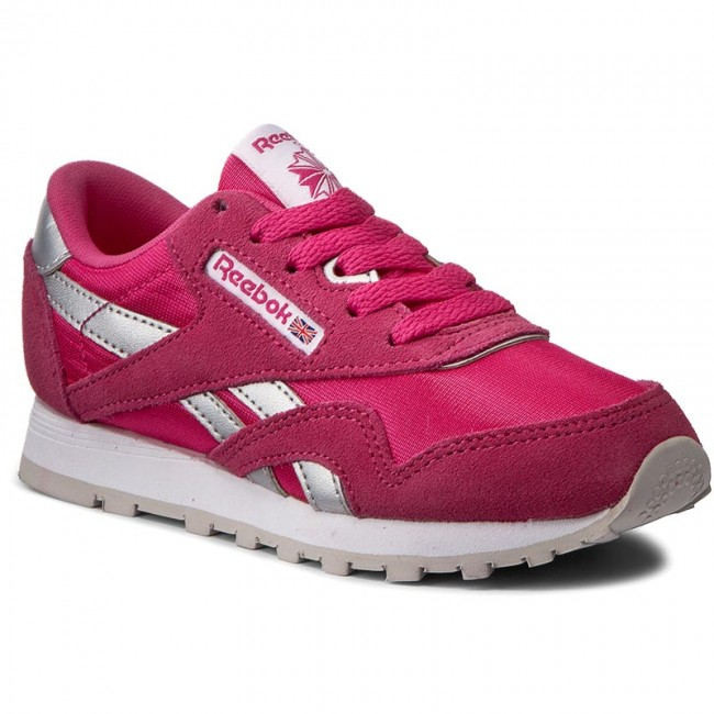 a91b7fe74277 Shoes Reebok - Cl Nylon BD2698 Rose Rage Wht Silvr Steel - Laced ...