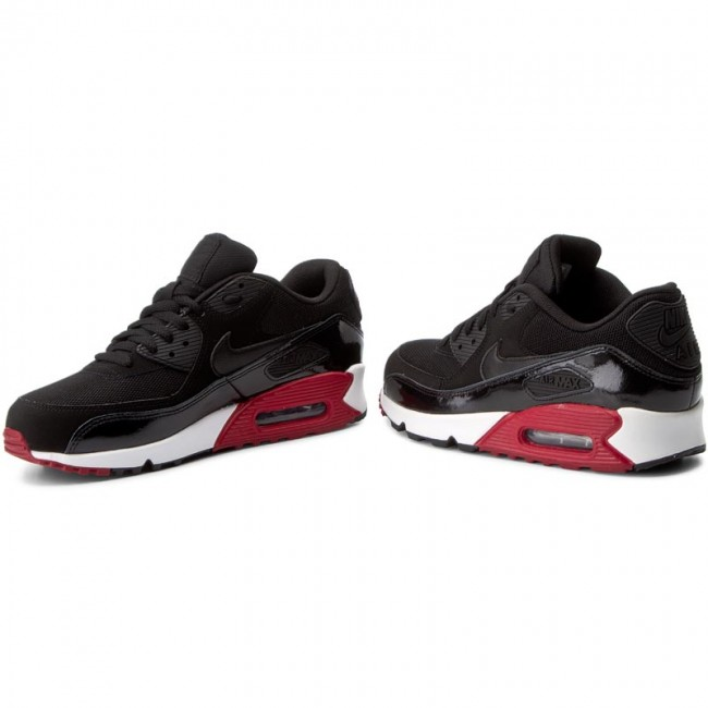 super popular 5678c 4e16b Shoes NIKE - Air Max 90 Essential 537384 066 Black Black Gym Red