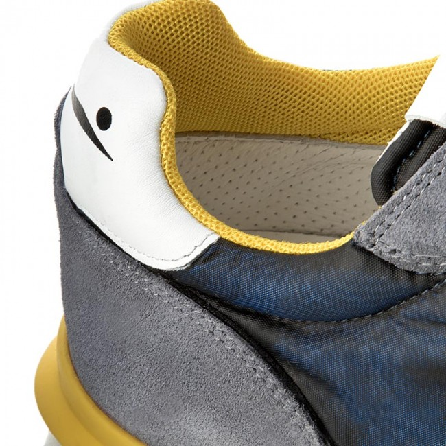 Sneakers VOILE BLANCHE - Liam Race 0012011204.01.9101 Denim Giallo ... 4d56c1f8047