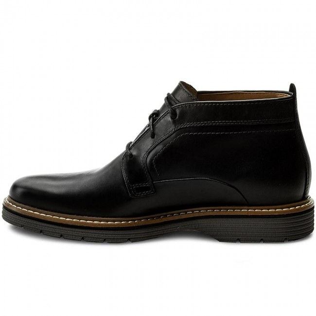 Boots CLARKS - Newkirk Up Gtx GORE-TEX 261218837 Black Leather