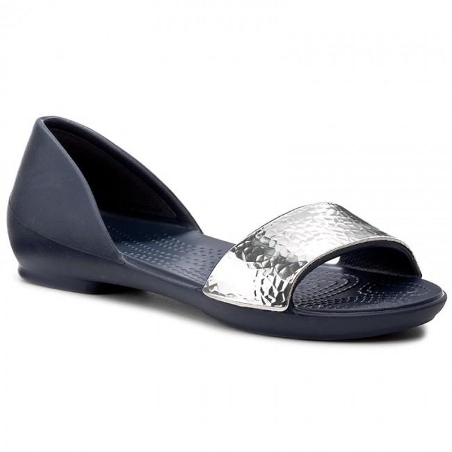 86c542819f7163 Sandals CROCS - Lina Embellished Dorsay 204361 Navy Silver - Casual ...
