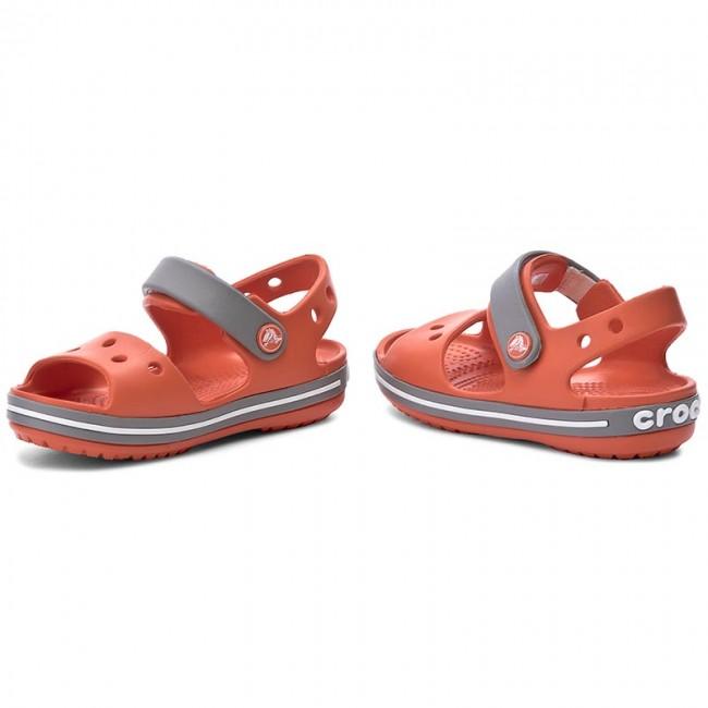 Sandalen CROCS - Crocband Sandal Kids 12856 Tangerine/Smoke qO2g2g89c