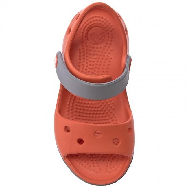 Sandalen CROCS - Crocband Sandal Kids 12856 Tangerine/Smoke 4ffJev7XN9