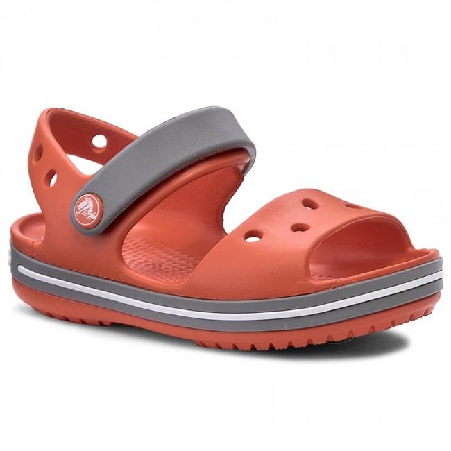 Sandalen CROCS - Crocband Sandal Kids 12856 Tangerine/Smoke wyh9u