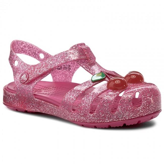 b9ce3a3ec33 Sandals CROCS - Isabella Novelty Sandal 204529 Vibrant Pink ...
