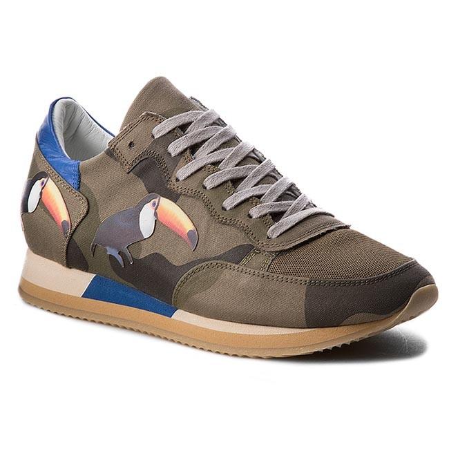 Sneakers PHILIPPE MODEL - Tropez TBLU BC01 Birds Green Toucan ... 8a6d8b513ab