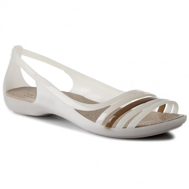 98701328a751 Sandals CROCS - Isabella Huarache Flat W 202463 Oyster Walnut ...