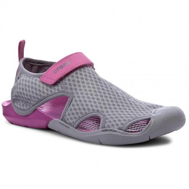 07f81e524fc73 Sandals CROCS - Swiftwater Mesh Sandal W 204597 Smoke - Casual ...