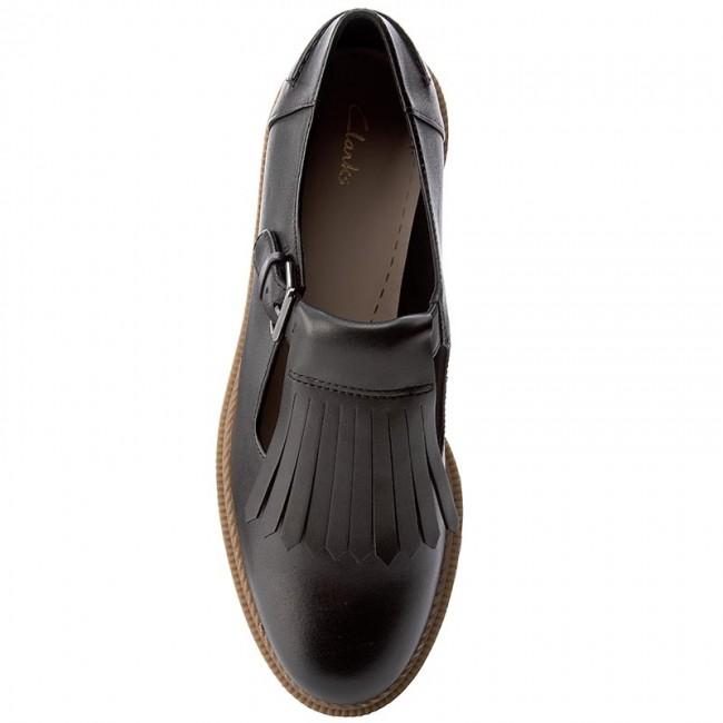 1ffaddb7a6308 Shoes CLARKS - Griffin Mia 261156344 Black Leather - Flats - Low shoes -  Women's shoes - www.efootwear.eu