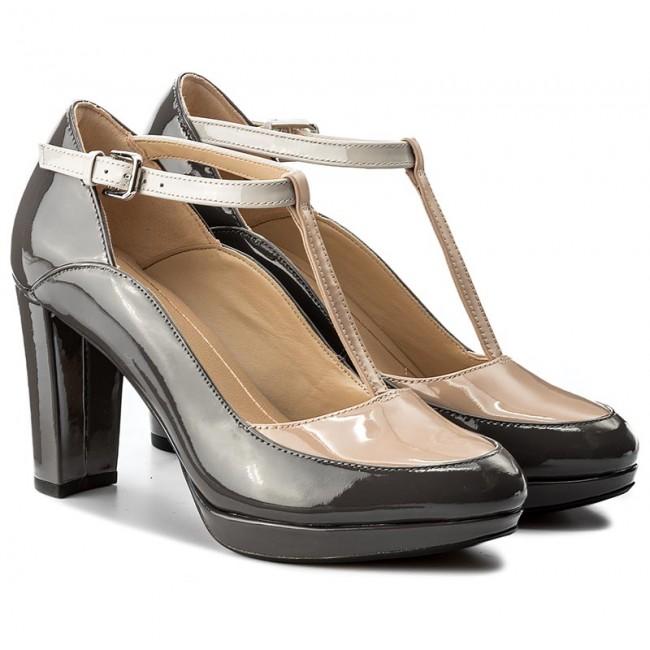 3141578f7 Shoes CLARKS - Kendra Daisy 261267964 Dark Grey Combi - Heels - Low shoes -  Women's shoes - efootwear.eu